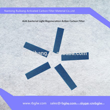 filtro de fotocatalisador de carvão ativo de mídia de coletor de pó