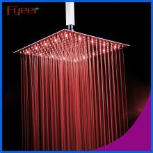 16 Inch Brushed Ultra Thin Stainless Steel LED Shower Head