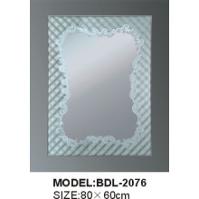 Espelho de vidro do banheiro da prata da espessura de 5mm (BDL-2076)