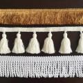 Direct Sales 7cm Width Black Cotton Tassel Fringe