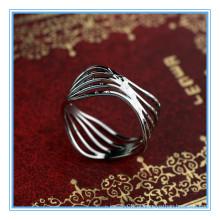 Preço de design exclusivo ouro branco banhado anéis torcidos toe anel