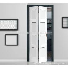 2018 Venta caliente de madera maciza Interior Panel doble Puertas plegables Dos puertas plegables de gabinete interior