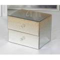 Glitter Gold Mirrored Jewelry Box