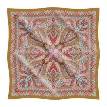 Custom Printed Paisley Design Petit mouchoir en soie personnalisé imprimé