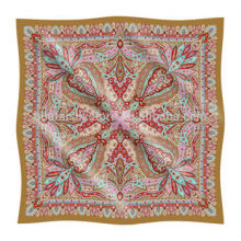 Напечатанный на заказ дизайн Paisley Small Silk Handkerchief Custom Printed