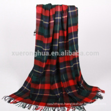 tartan plaid merino wool blanket
