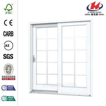 Composite Woodgrain Interior Sliding Patio Door