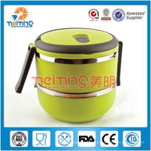 Os utensílios de mesa de aço de Stainelss 2 & 3 camadas mantêm a caixa morna do tiffin, recipientes descartáveis para o alimento