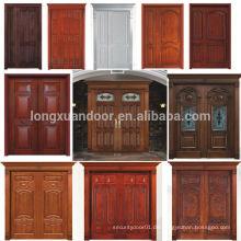 100% Massivholz Tür Teak Holz Haupteingang Tür Designs Doppel Türen Design Qualität Wahl