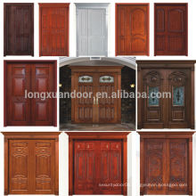 100% Solid Wood Door Teak Wood Main Entry Door Designs Double Doors Design                                                                         Quality Choice