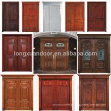 100% porta de madeira maciça Madeira de teca Principais projetos de porta de entrada Portas duplas Design Qualidade Escolha