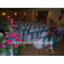 Couverture de chaise de banquet standard, CT110 polyester matière, durable et facile lavable