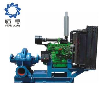 Double suction diesel engine irrigation pump