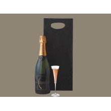 Die Cut Handle papper champagne väska