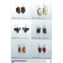 Boucles d'oreilles en cabochon