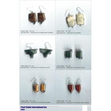 Earrings In Cabochon