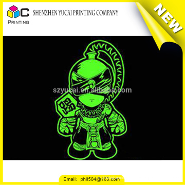 Promotion customized luminous colorful adhesive sticker glitter paper