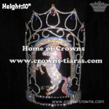 10in Height Crystal Unicorn Pageant Crowns