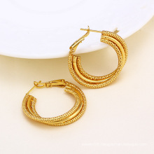 14k Gold Color Circle Design Fashion Imitation Earring (24379)
