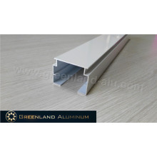 Алюминиевые вертикальные жалюзи с направляющей порошковой окраской Белая дорожка высокого качества с 33 мм
