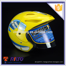 Exceptional stylish yellow China ABS motorcycle helmets