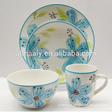 creative hand painted stoneware tableware