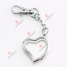 Personalizada de metal de aleación de plata corazón llaveros regalos (SHK50925)
