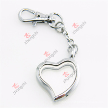 Custom Alloy Metal Silver Heart Lockets Keychain Cadeaux (SHK50925)