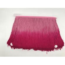 Frange pompon double couleurs 20cm