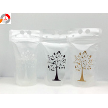 Customized Stand-up Drink Transparent Bag with Zipper