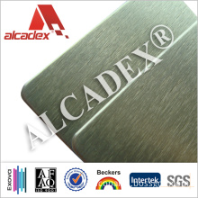 with Protective Film Brushed Surface ACP Exterior Facade Systems