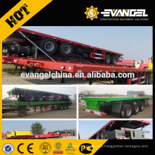 Factory 40ft Flatbed Platform Container carrier Semi Trailer link with Howo truck head / Prime mover for sale