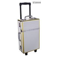 Caja de la carretilla de lujo de aluminio con marco de aluminio anodizado de oro ventas por mayor