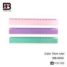 Regla de escritorio de color opaco PS para oficina y material escolar