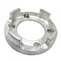 Grabador de aluminio anodizado de alta calidad del CNC de la plata de la precisión