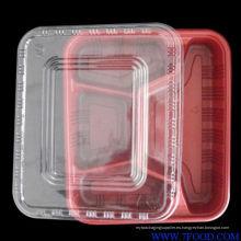 Caja de almuerzo de plástico en cantina (HL-204)