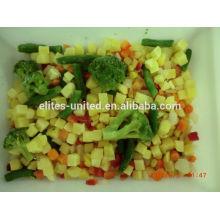 Iqf, misturado, legumes, cenoura, verde, ervilha, doce, milho
