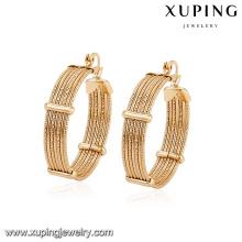 94380 арабский стиль свободный размер медного сплава изящный золотой обруч серьги конструкции для girlfriend подарок
