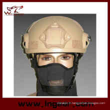Casque militaire Mich 2001 Ach avec Nvg Mount & côté Rail Action Version Paintball casque