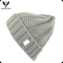 Fashionable 100 Acrylic Winter Knit Cuff Hat