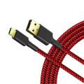 Nylon geflochtenes Schnelllade-USB-Kabel