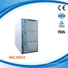 3 Körper Gefrierschrank, Cadaver Kühlschrank morgue Kühlschrank MSLMR03I mit Danfoss Kompressor