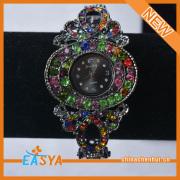 New Arrival Clock Design Rhinestone Bracelet For Women Jewelry