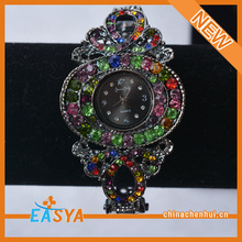 New Arrival Clock Design Rhinestone Bracelet For Women Jewelry