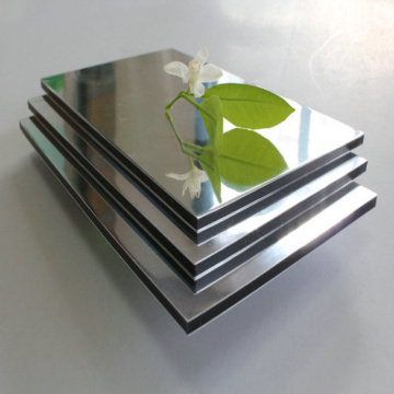 Panneau de miroir décoratif Acp avec revêtement en métal