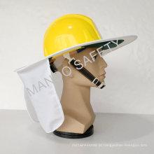 Hi-Viz Safety Sun Brim usado no capacete