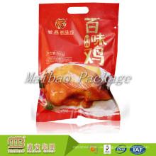 Nehmen Sie kundengebundenen Großhandelsplastik-Heißsiegel-Nahrungsmittelgrad an, der vakuumversiegelte Taschen mit Riss-Kerbe verpackt