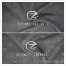 Tissu en mousseline de polyester jacquard 2016 pour les robes de mode Uses (ZCFA001)