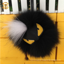Hot Selling Fox Fur Leather Monster Pom Pom Monster Ball keychain Bag Car Charm