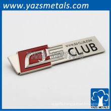 engrave custom metal car sticker